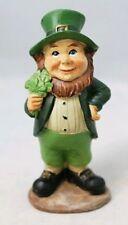 "Leprechaun Shamrock Figurine 3.7"" Resin St. Patrick's Day Decor Gift Lucky Charm"