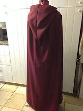 Punta con cappuccio mantello vino burgendy più colori disponibili (C44)