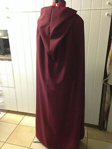 pointy hooded cloak  wine burgendy more colours available (p44) wizard fantasy