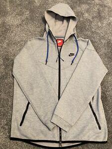 Nike Tech - Medium Man - Full Zip Up - Jumper - Grey - Jacket Hoodie - Vgc