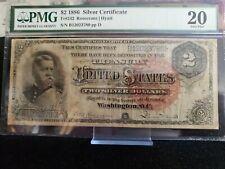 "1886 $2 Silver Certificate FR-240 - ""Hancock"" - PMG 20 - Very Fine 3780"