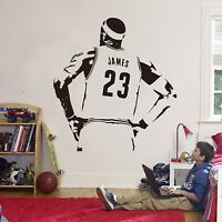 NBA James Wall Sticker Vinyl DIY Home Decor Basketball Player Decals Sport
