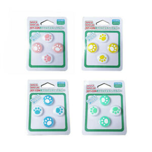 For Nintendo Switch Joycon Silicone Thumb Stick Grip Caps Cover Protector 4pcs