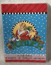 Mary Engelbreit Journal New Sealed 80 Sheet - Wonder Santa 5x7 size soft cover