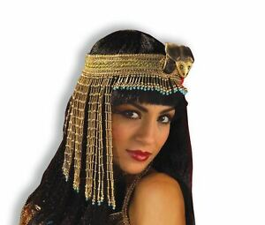 Snake Headpiece beaded Cleopatra Egyptian Queen womens costume accessory