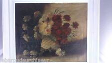 Huile sur toile  pot de fleur signée G lamy