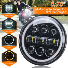 5-3/4'' 5.75Inch Motorcycle LED Headlight Projector Hi-Lo Beam Halo Ring Lamp