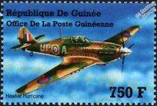 WWII RAF HAWKER HURRICANE Mk.I Fighter Aircraft Stamp (2002 Guinea)