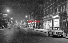 PHOTO  KILBURN HIGH ROAD: EVENING SCENE 1961 VIEWNEAR WILLESDEN LANE BRONDESBURY