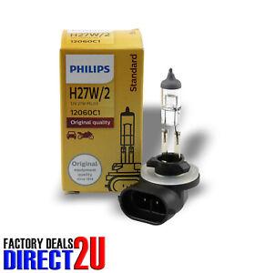 Genuine PHILIPS Standard Headlight Globe H27W/2 12V 27W PGJ13 - Single Bulb