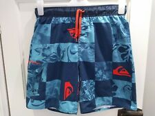 Quicksilver Swim Board Shorts Medium M Blue Orange Mens