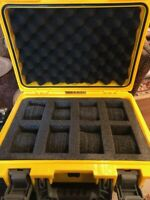 Invicta Watch 8-Slot Yellow IMPACT RESISTANT Dive Case - BRAND NEW
