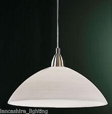 stylé lumière plafond lustre en Satin nickel avec fait à la main blanc