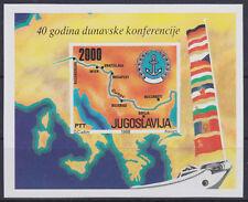 Yugoslavia Block 33 40 Years Donaukonferenz, Mint