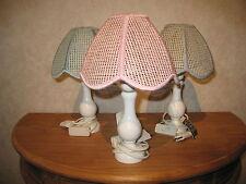 *NEW* Lampe de chevet H.30cm pied en bois abat-jour rose ( au milieu ) Lamp