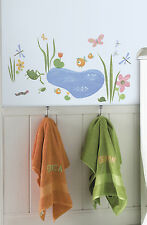 40 New HOPPY POND WALL DECALS Turtles Butterflies Stickers Bathroom Decorations