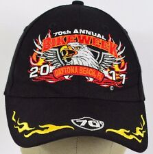 Black 70th Annual Bike Week Daytona FL embroidered baseball hat cap adjustable