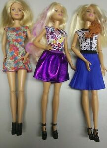3 Barbie Dolls