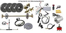 "New listing 29"" Go Kart Cart Rear Axle Kit 6"" Wheels 48V 1800W Electric Motor Set Conversion"