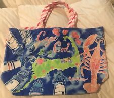 NEW Lilly Pulitizer Destination Tote Terry Cloth Cape Cod Beach Bag