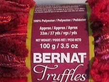 x1 Skein  Bernat Truffles Ruffle Yarn   Cherry Red
