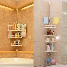 4Tier Shower Corner Pole Caddy Shelf Rack Bathroom Bath Storage Holder Organizer