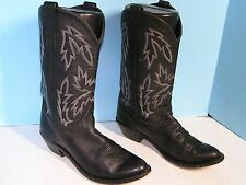 LADIES OLD WEST BLACK TRADITIONAL STYLE COWBOY WESTERN BOOT SIZE 7.5