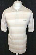 PING Mens Biege Striped Polo Shirt Size Large
