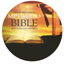 NEW! BIBLE ON CD MP3 AUDIO KING JAMES VERSION OLD AND NEW TESTAMENT COMPLETE