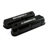 Ford SB 289 302 351 Windsor Speedmaster Black Aluminum Valve Covers Tall w/Hole