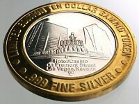 Ten Dollar Gaming Token 4 Four Queens Casino Las Vegas Nevada .999 Silver R976