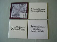 MORNING RUNNER job lot of 4 promo CD singles Gone Up In Flames Burning Benches