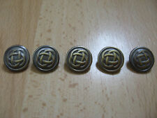 Celtic style buttons x5, buttons,pewter buttons,antique gold tone,metal button,