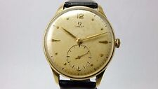 OMEGA VINTAGE 14K GOLD 2181 LARGE JUMBO SIZED WATCH CALIBER 265 MANUAL WIND