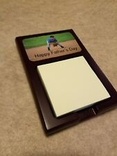 Personalized Desk Post-It Sticky Note Holder with Your Photo - Great Gift Item