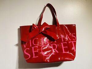 Victoria's Secret Beach Red Patent XL Weekender Bag