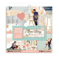"NEW Stamperia 8"" x 8"" Paper Sheets Love Story"