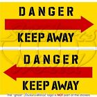 DANGER KEEP AWAY Helicopter Tail Rotor 75mm Vinyl Stickers Decals x2