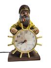 Vintage Mastercrafters Clock Model 722 Sailer Sea Captain Nautical USA WORKING!