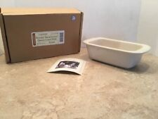 New ListingLongaberger Woven Traditions Pottery Small Loaf Dish in Ivory New in Box