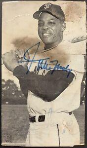Willie Mays Signed Postcard JDM 3x5 Baseball Autograph NY SF Giants ROY MVP JSA