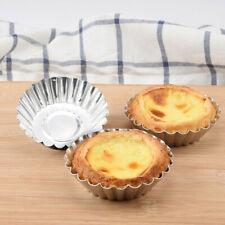 20PCS Egg Tart Aluminum Cupcake Cake Cookie Lined Mold Mould Tin Baking Tool Hot