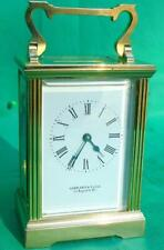 GARRARD REGENT ST LONDON ENGLISH VINTAGE 8 DAY CLASSIC CORNICHE CARRIAGE CLOCK