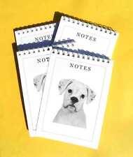 Boxer Dog White 4 A6 Dog Notepads Gift Set