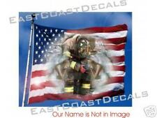 Firemen w Angel Flag WTC 911 Decal Firefighter Decals 9-11 NEW.  Never Forget