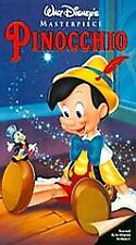 PINOCCHIO - Walt Disney Masterpiece Collection (VHS, 1993) G FS Clamshell Color