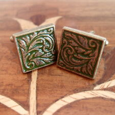 Vintage Style Square Enamel Cufflinks