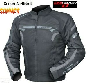Dririder AIR RIDE 4 Vented Motorcycle Jacket NEW Blk/Grey summer Road Dry rider
