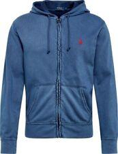 Polo Ralph Luaren sudadera en color azul con capucha y cremallera