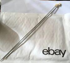 """Pair 14"""" Knitting Needles Size 2.75 mm (12 UK) (2 US) Vintage British Metal Fine"""